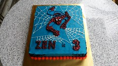 Spiderman Cake (Celebrate With A Cake) Tags: cake childrenscake birthday spiderman buttericing