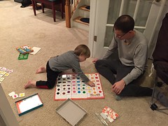 "Daddy and Paul Play Matching Bingo • <a style=""font-size:0.8em;"" href=""http://www.flickr.com/photos/109120354@N07/32957413102/"" target=""_blank"">View on Flickr</a>"