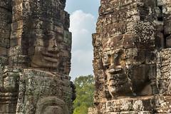 """""""Khmer Smile"""" at Bayon Temple, Angkor Thom, Siem Reap, Cambodia"""