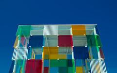 Centre Popmpidou (Esuna Photo) Tags: blue red green glass yellow architecture squares bluesky clear centrepompidou malaga