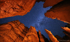 "Vaulted Starry Night View (IronRodArt - Royce Bair (""Star Shooter"")) Tags: nightphotography lightpainting stars nightscape wallstreet brycecanyon starrynight milkyway brycecanyonnationalpark navajolooptrail starrynightsky"
