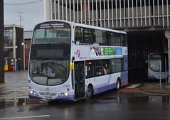 37488. YN08 NMM: First South Yorkshire (chucklebuster) Tags: volvo south yorkshire first wright gemini rotherham b9tl yn08nmm
