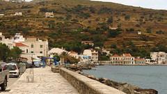 along the seafront in Korthi IMG_8077 (mygreecetravelblog) Tags: road street greece greekislands andros cyclades cycladesislands androsgreece androsisland korthi korthiou ormoskorthiou ormoskorthiouandros korthivillageandros korthiouandros