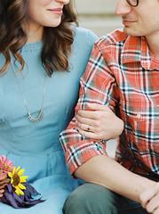 (Rhea Quitasol | Photography) Tags: love film engagement couple pentax naturallight medium format engaged 120mm portra400 photovision denimdress 645n 105mmf24 ratedat320