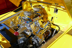 1950 Willys Chrome (bballchico) Tags: 1950 willys jeep truck danjubie arlingtondragstripreunionandcarshow arlingtoncarshow chrome engine 206 washingtonstate arlingtonwashington
