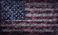 Grunge American Flag (martin_emes) Tags: old uk england urban usa canada america photoshop army war pattern unitedstates action britain background painted flag military patriotic games gritty canadian national camouflage weathered british independenceday unionjack