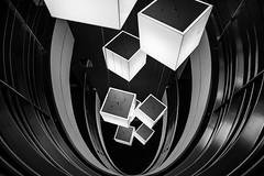 Lucky Number 7 (TS446Photo) Tags: camera blackandwhite bw white abstract black building art monochrome architecture modern club stairs lights mono hotel nikon europe interior balcony fineart poland down explore warsaw 20mm fullframe dslr fx d600 nikond600 nikon20mm ts446