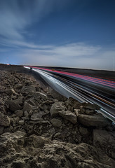 Night-Way (zaid.sp14) Tags: road sky stone night way long exposure south saudi arabia    dirap