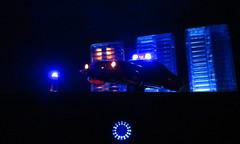 Corgi Toys Buick (Century) Regal Police Car No. 416 Converted Into A Futuristic Sci-Fi Hover Car : Diorama A Hover Police Car City Scene - 26 Of 98 (Kelvin64) Tags: city car century toys buick corgi no police scene scifi converted futuristic regal diorama hover 416 a into