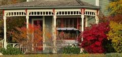 Verandah in Fall (tonywild241) Tags: street autumn house canada fallcolor architecturaldetail britishcolumbia mostviewed vernonbc okanaganbc