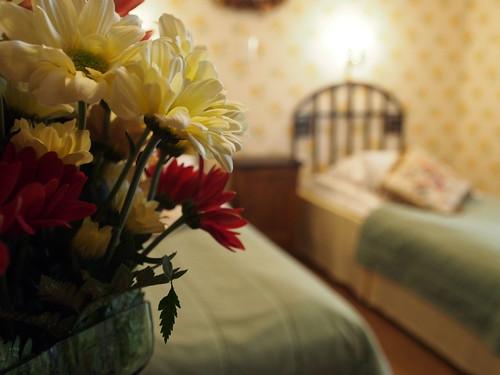 Hirvihaaran Kartanon hotellihuone