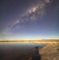 Laguna Cejar under Milky Way (Gabriela Iacobuta) Tags: chile lake water night america stars photographer desert south ngc hut galaxy atacama laguna universe reflexion starry milkyway 5photosaday cejar