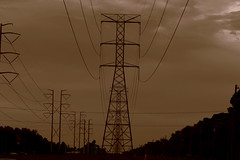 Electrified. (Joe Folino ( LoopRunner )) Tags: world city usa lines sepia dark town power florida earth infrastructure electricity