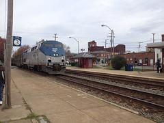 "Amtrak Engine #15 pulling ""The Carolinian"" makes a stop at Quantico Virginia (bslook1213) Tags: train yahoo google flickr amtrak marines passenger bing csx rfp carolinia flickrhive flickriverflickrhiveflickrmind"