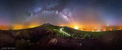 Vía láctea sobre el Parque Nacional del Teide