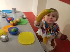 Banana (quinn.anya) Tags: toddler sam plate banana playfood