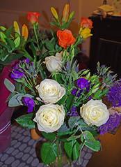 D14485.  Still Life - 3. (Ron Fisher) Tags: flowers stilllife plant flower pentax bouquet tamron pentaxkx tamron18200mmlens