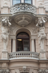 20160919 Budapest, Hungary 03589 (R H Kamen) Tags: budapest easterneurope hungary neoclassical pest architecture buildingexterior caryatid facade femalerepresentation malerepresentation rhkamen