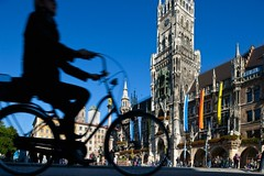 42-32063292 (51House) Tags: architecture backlit bavaria bicycle bicycling bicyclist biker centraleurope cyclist europe european german germany marienplatz munich oberbayern one oneperson outdoors people publicsquare riding scenic silhouette streetscene town townscene travel vehicle viewfromabove westerneuropeanculture