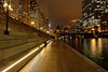 Chicago. (alamsterdam) Tags: chicago photo river evening people reflection longexpoure bridge