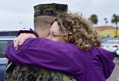 Kathy hugging Scott (Jon_Marshall) Tags: scott marines marine bootcamp graduation kathy marinecorpsrecruitdepot sandiego mcrd hug greet mom