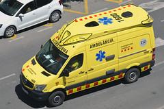 Emergències Mèdiques (bleulights) Tags: ambulància ambulancia ambulanza ambulance ambulanz rettungswagen emergències mèdiques medical emergencies emergencias médicas urgences médicales mercedes benz sprinter 1600 catsalut suport vital avançat soporte avanzado advanced life support soutien de la vie avancée samu