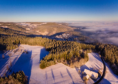 View over Triberg (Blackforest) (Nature_77) Tags: triberg tribergimschwarzwald schwarzwald blackforest stadt city landschaft landscape winter winterwonderland schnee snow luftaufnahme dji badenwürttemberg deutschland de standard nebel fog djiphantom3 wald wood forst bluesky blauerhimmel bawü natur nature