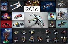 2016 (Vaionaut) Tags: lego mocs 2016 harrypotter universe starwars ford hotrod space creations rebels collage