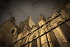 Christchurch Cathedral (oliko2) Tags: christchurchcathedral dublin perspective pov fence building architecture night evening d7100 sigma1750 f28 ireland sky clouds up