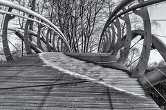 Jubliee Bridge (taperoo2k) Tags: jubileebridge frosty blackandwhite christchurchmeadow oxford kevintaphousephotography
