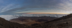 Between the clouds (derliebewolf) Tags: natur panorama tech sunset travel nature volcano teneriffa bluehour goldenhour clouds mountains mountaintop hiking spain night ultrawideangle lava
