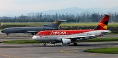 HK-4552 & FAC1204 (Ken Meegan) Tags: hk4552 airbusa319112 3518 avianca bogota 1112014 fac1204 boeing7272x3f 22608 colombianairforcefuerzaaereacolombiana colombianairforce fuerzaaereacolombiana airbus a319112 a319 boeing727 boeing727200 boeing 7272x3f 727200 727 b727 b727200 b7272x3f vulcano fgcmv