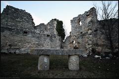 INRI. (anna punx) Tags: armedilla monasterio monastery cogecesdelmonte valladolid ruinas ruined cueva cave iglesia church medieval rock piedra altar inri religion religious