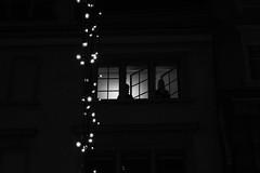 Juliet 1 and Juliet 2 (Ivan Rigamonti) Tags: zurich streetphotography outdoors juliet night romeo street switzerland xmas christmas urbanexploration backlight citylights bw streetmusician lookingup europe urban