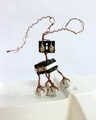Roul (the_alien_experience) Tags: robot computer creature monster pet alien metal handmade ooak crafts keyboard