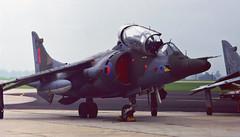 Y oh Y? (crusader752) Tags: raf royalairforce no233ocu operationalconversionunit hawkersiddeley harrier t4 xw927y flightline 1982 rnasyeovilton airday vtol jumpjet aircraft
