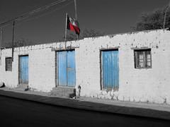 San Pedro de Atacama (marie2812) Tags: san pedro de atacama black white blue house street
