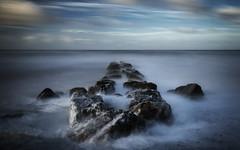 Turmoil (jaygilmour11) Tags: seagroin groin groyne ocean sea rokcks wind rain clouds longexposure landscape seascape moody sky horizonblackpool england northwest