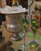 Celebrating the New Year! (BKHagar *Kim*) Tags: bkhagar newyear 2017 happynewyear end beginning champagne ice bucket fleurdelis aluminum glasses flutes champagneflutes original designsforken gift purple green gold
