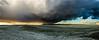 Centro de Tormenta ... (Marcelo Las Heras) Tags: riogrande tierradelfuego arcoiris atardecer cielos clouds colores colors landscape lluvia naturaleza nature nubes paisaje paisajes patagonia rainbow sol storn sun sunset sur tormenta panoramica pano panorama storm cielo