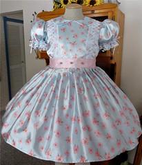blue & cherry dress (shellyanatine) Tags: sissy sissydress crossdressing sissymaid crossdress