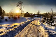 Winter sunset in Wysowa-Zdrój (2) (Zyla, K. alone) Tags: beskyds landscape pentaxlimited pentaxda15mmlimited pentaxart wysowa thebp winter pentaxsmc nature art zima afternoon justpentax sunsetlight polska poland pentaxk30