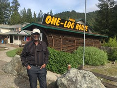 One.Log.House.KarenB (redwoodcoaster) Tags: travel humboldt california nature redwoods drivethrutree