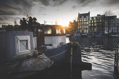 2017_01_20(28) (bas.handels) Tags: amsterdam street urban city canal amstel nederland dutch holland sunset fuji fujixt1 xt1
