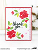 Painted Flowers (akeptlife) Tags: paintedflowers card cardmaking stamping stamp concord9th thankyou floral