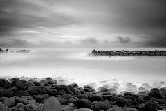 On the edge to nothingness (Rico the noob) Tags: dof landscape nature d500 outdoor madeira clouds longexposure 1120mm ocean beach published water sky bw 2017 sea blackandwhite 1120mmf28