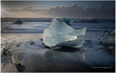 Diamond beach (TheAstroRV) Tags: jokulsarlon diamond beach iceland glacier lagoon iceberg basalt sand sky clouds sunrise sea tides sun landscape seascape