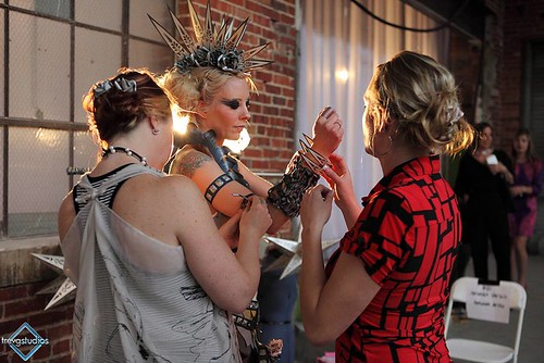 Backstage 11th Annual Paper Fashion Show