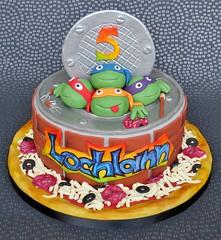 TMNT Cake (pamdoherty1) Tags: cake grafitti turtle ninja pizza mutant tmnt teenage sewerpipe