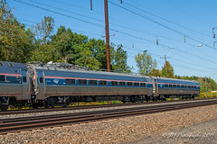 "Amtrak 10002 ""Corridor Clipper"" and 10005 ""Catenary Measurement"" car on Amtrak 171 (Darryl Rule's Photography) Tags: pennsylvania ns siemens pa amtrak local freight 171 northeastcorridor emd pennsylvaniarailroad pennsy tullytown csao mixedfreight northeastregional acs64"
